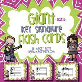 Giant Key Signature Flash Cards (8.5×11 PDF)