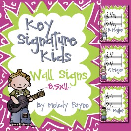 Key Signature Kids: PDF Key Signature Wall Signs {8.5×11}
