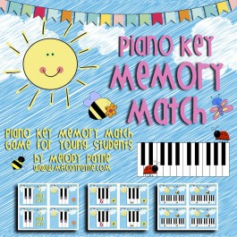 Piano Key Memory Match Game for Young Beginners (PDF)