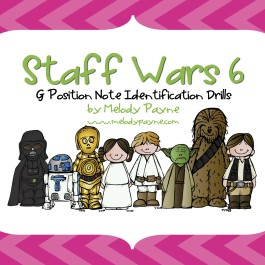 Staff Wars 6: G Position Note Drills for Elementary Students (PDF)