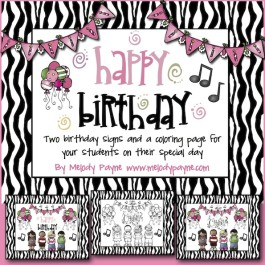 Happy Birthday! Birthday Signs & Coloring Sheet for Your Students