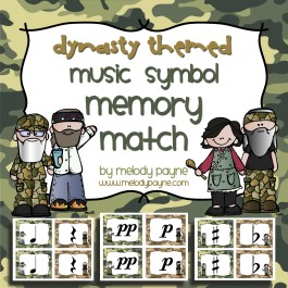Music Symbol Memory Match {Dynasty-Themed}
