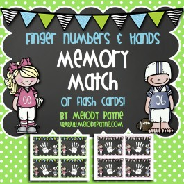 Finger Numbers & Hands Cards {Memory Match or Flash Cards!}