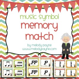 Music Symbol Memory Match {with Bach, Mozart, & Beethoven}