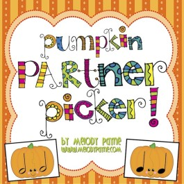 Pumpkin Partner Picker! Partner Choosing Cards for Groups