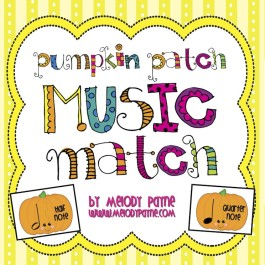 Pumpkin Patch Music Match Game for Elementary Music Students