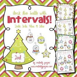 Deck the Halls with Intervals! {2nds, 3rds, 4ths, & 5ths}