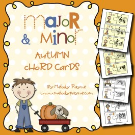 Major & Minor: Autumn Chord Cards for Elementary Music Students