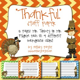 """Thankful"" Staff Paper"
