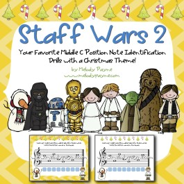 Christmas Staff Wars 2: Your Favorite Note Identification Drills with a Christmas Theme! {PDF}
