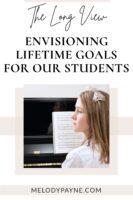 Piano student imagining her future