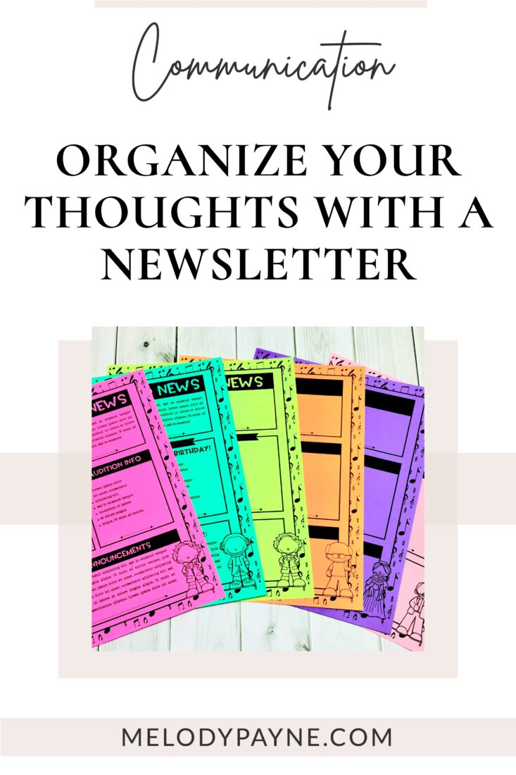 Music newsletters on a desk