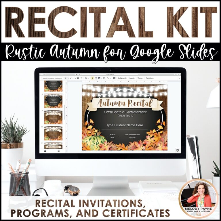 Piano Recital Kit Rustic Autumn By Melody Payne