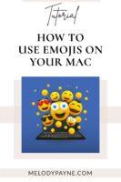 Emojis floating above a laptop