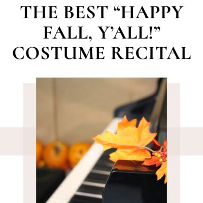 """Host the Best Ever """"Happy Fall, Y'all!"""" Costume Recital"""