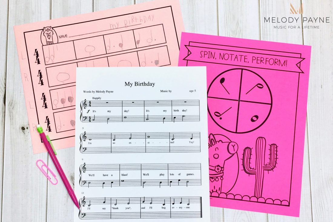 Easy Music Composition Activity for Elementary Students - Tutorial