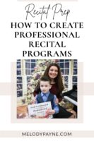 Piano teacher and student at the recital