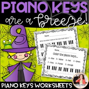 Piano Keys are a Breeze! Halloween Worksheets