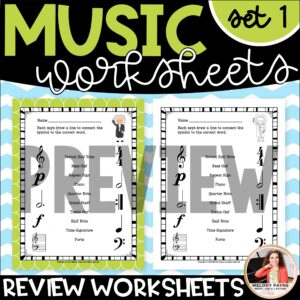 Music Worksheets for Elementary Students: Bach to the Basics