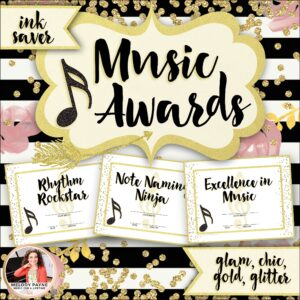 Music Awards: Chic & Glam, Editable, Ink-Saver