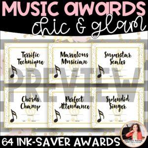 Music Awards: Chic & Glam, Editable, Ink-Saver