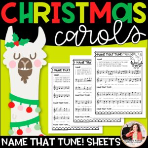 Name That Christmas Tune! Music Worksheets: Treble and Bass Clef