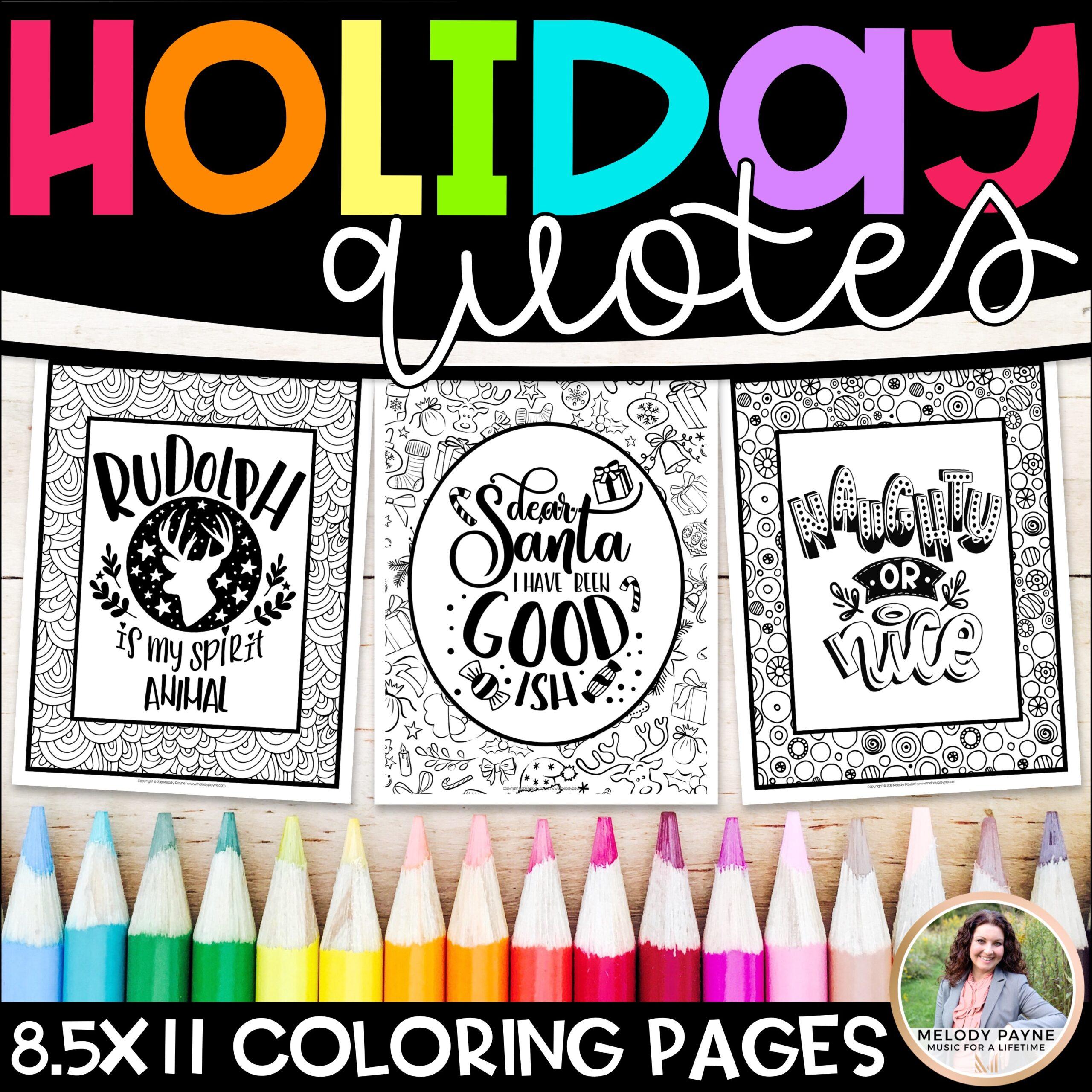 Holiday Quotes Coloring Pages For Christmas Winter Melody Payne Music For A Lifetime