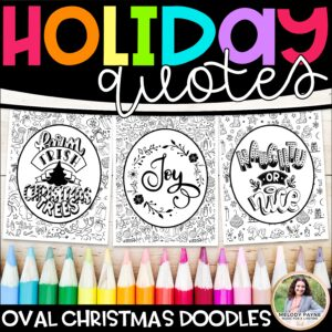 Holiday Quotes Coloring Pages for Christmas & Winter