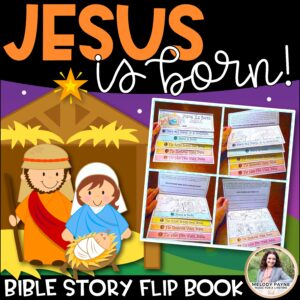 Nativity Bible Story Flip Book: Jesus Is Born! {Print, Fold, Staple, Done}