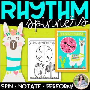 Llama Rhythm Spinners: Spin, Notate, Perform!