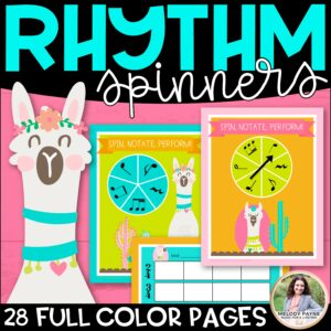 Llama Rhythm Spinners: Spin, Notate, Perform!