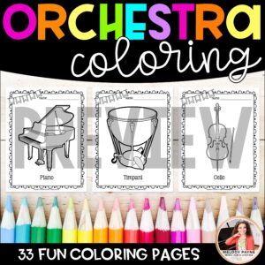 Instrument Coloring Sheets & Worksheets: Orchestra