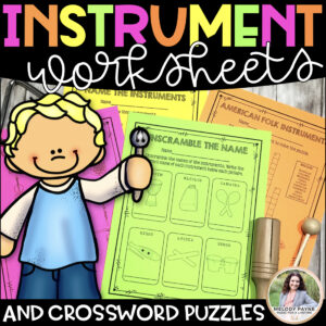 Musical Instrument Worksheets & Crossword Puzzles