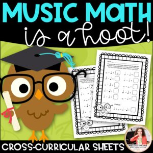 Music Math Worksheets: Music Math is a Hoot!