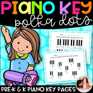 Polka Dot Piano Keys Worksheets for Young Students