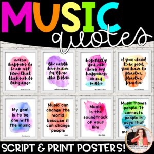Music Quote Posters in Watercolor