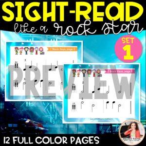 Sight-Read Like A Rock Star, Set 1: 2 Black Keys Hands Alone
