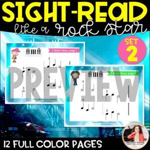 Sight-Read Like A Rock Star, Set 2: 2 Black Keys Both Hands