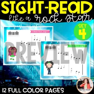 Sight-Read Like A Rock Star, Set 4: 3 Black Keys Both Hands