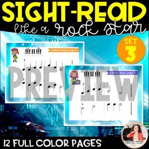 Sight-Read Like A Rock Star, Set 3: 3 Black Keys Hands Alone