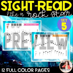 Sight-Read Like A Rock Star, Set 5: White Keys with Letters