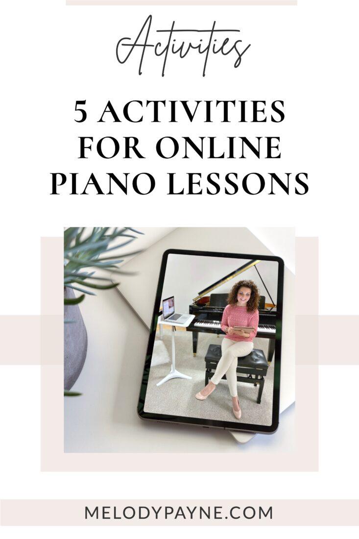 Online piano teacher Dr. Melody Payne