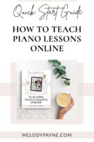 How to teach piano lessons online - the guide