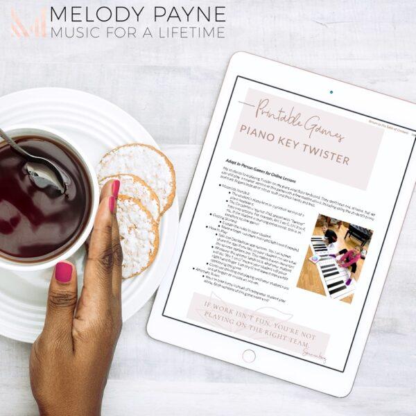 Teaching Piano Lessons Online www.melodypayne.com