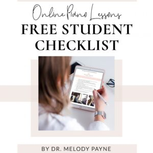 Teaching Music Lessons Online Student Setup Checklist by Melody Payne
