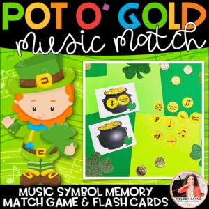 St. Patrick's Day Music Symbol Matching Game