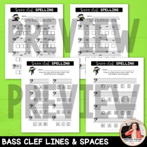 Music Worksheets for St. Patrick's Day: Note Ninjas