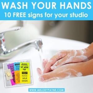 Wash Your Hands: 10 Free Signs for Your Studio