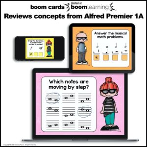 Beginning Piano Lesson Review for BOOM Cards: Set 1