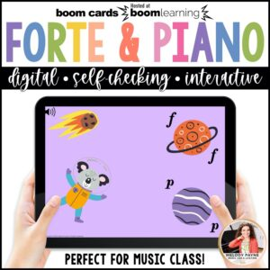 BOOM Cards: Forte & Piano in Outer Space